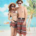 Lovers Couple Boho Short Pants Womens Beach Surf Board Swim Shorts Tie Rope M67