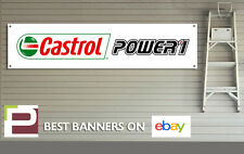 OLIO CASTROL POWER 1 Workshop Garage Banner, Pit Lane, MOTO, Motorsport
