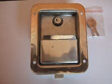 STAINLESS STEEL PADDLE LATCH, KEY, GASKET, Tool Box Door, Truck & Utility Body