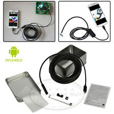 6 LED 7mm Android Endoscope Waterproof Inspection Borescope Camera 1M Cable
