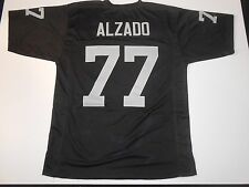 Oakland Raiders Lyle Alzado UNSIGNED CUSTOM Black Jersey - Large