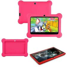 """7"""" Android WiFi Bluetooth Touch Quad Core Tablet PC For Kids Red + Case Rose FT"""