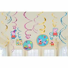 PEPPA PIG HANGING SWIRL PARTY DECORATION KIT BIRTHDAY PARTY FAVOR SUPPLIES