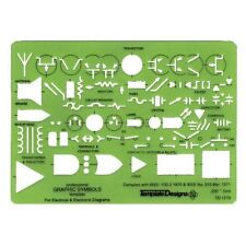 Alvin ELECTRICAL ELECTRONIC SYMBOLS TEMPLATE Stencil Drawing Design TD1279