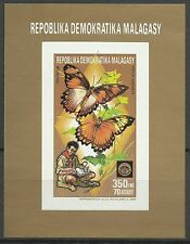 Madagascar Papillons Machaon Butterfly Schmetterlinge Non Dentele Imperf ** 1988