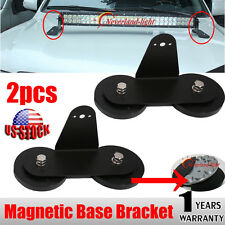 Powerful Mount Bracket Sucker Holder Magnetic Base f/ Roof Led Light Bar Offroad