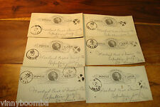 VINTAGE COAL MINING TRAIN CAR POSTCARDS LOT OF 6 1888 HUNTSVILLE MO WOODARD !!!