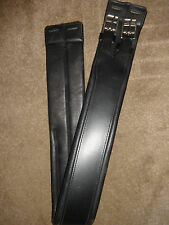 NEW SOFT PADDED ENGLISH LEATHER GIRTH BLACK - 40""