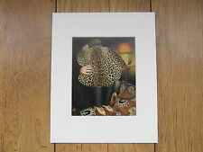 "BERYL COOK""LEOPARDSKIN COAT"" MOUNTED CARD 10 X 8 FUNNY"