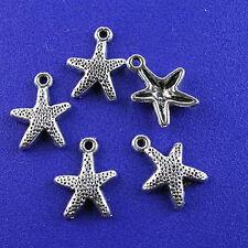 30pcs Tibetan silver starfish charms h2578