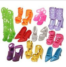 """IDEA REGALO"" LOTTO STOCK 10 PAIA SCARPE BARBIE FASHION MODA BAMBINA ACCESSORI"