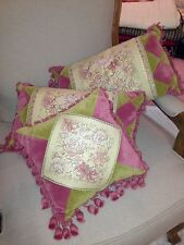 "French Country Shabby Cushion Pillow 30x30cm (12"") Velvet Tapestry"
