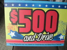 $500 Down Signs for Car Dealers