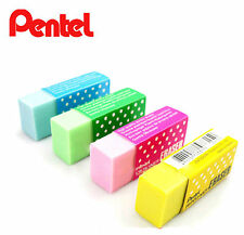 4x Cute Color Eraser Pentel Pencil School Office Supplies Gift Pink Blue Green