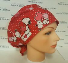 SNOOPY  ON VALENTINE   / HAT PIXIE/SCRUB MEDICAL/ SURGICAL