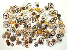 100+, 10 GRAMS, VTG Steampunk Gear Wheel Part Lot Pocket Watch Nail Altered Art