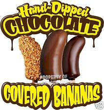 """Chocolate Covered  Bananas Concession Decal 14"""" Food"""