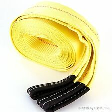 "Heavy Duty Tow Strap 4"" X 30' Recovery Rescue 20,000 LB Break Strength Towing"