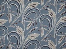 Cotton Fabric-- Denim Blue Modern Leaf Print from dear Stella--One Yard