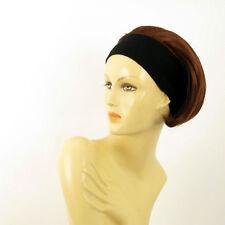 parrucca con bandana elastica castano scuro rame intenso ref AMANDA 322 peruk