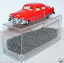 MICRO PRALINE HO 1/87 CADILLAC 54 CADDY LIMOUSINE ROUGE vif IN BOX