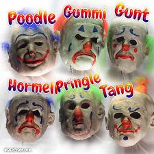6 Scary Killer Clown Creepy Masks - Clown Crate: Big Top (Full 6 Mask Set!)