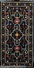 """48"""" x 24 """" Marble Dining Table Top Pietra Dura Inlay Art For Home Decor & gift"""
