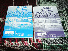 COLLECTION OF 2 x BRITISH TOURING CAR RACE DATA BOOKLETS - 1996 BTCC