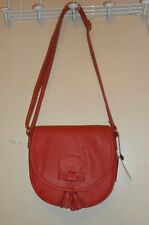 MNG by Mango Faux Leather Cross Body Handbag Purse Pinkish Red NWT