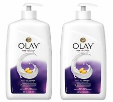 Olay Age Defying with Vitamin E Body Wash 30 oz Pump Lot of 2 Value Size bottles