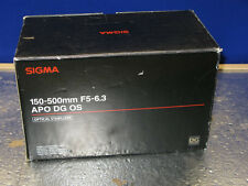 Sigma 150-500mm F5-6.3 APO DG OS Lens For Canon  AS IS