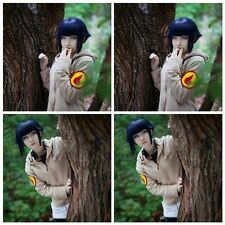 New cosplay fashion Hyuga Hinata Dark Blue Short Hair+free wig cap