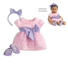 """American Girl BITTY BABY  BLOSSOMS & BOWS for 15"""" Doll Dress TWIN Pink New Box"""