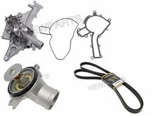 Mercedes (98-05 +Cooler) OEM Water Pump +Belt +Thermostat w202 w208 w210 r230