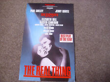 The REAL THING  Paul SHELLEY & Jenny QUAYLE  Original STRAND Theatre Poster