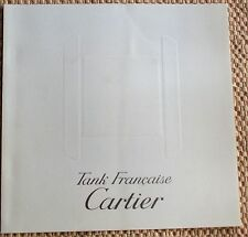 "CARTIER, ""TANK FRANCAISE"" 1996 WATCH BROCHURE. (4321)."