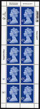 2017 £5 FIVE POUND MACHIN 65th Anniversary of Accession Full Sheet of 10