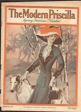 MARCH 1911 MODERN PRISCILLA vintage magazine - GREAT ADS - DOG