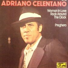 0c Adriano Celentano 45t Woman In Love - Rock Around The Clock - Preghero (elect