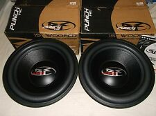 "OLD SCHOOL ROCKFORD FOSGATE RFP-3415 SUBS!! RARE 15"" PUNCH HE SUBWOOFER SET- NEW"