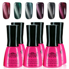 8ml 6PCS/Lot Gel Nail Polish AND 2 Magnet Tips FOR Free UVLED Lamp Cure KIT ce06