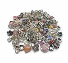 Wholesale Job Lot Alloy Silver Plated Rhinestones Charms Beads Jewellery Making