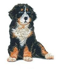 "2 1/4"" x 2 3/4"" Sitting Bernese Mountain Dog Breed Embroidery Patch"
