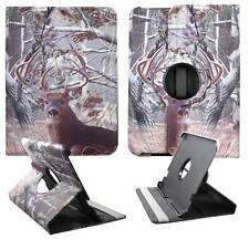 Tablet Camo Tail Deer For Kindle Fire HD 8.9  360 Rotat Case Cover Stand
