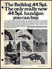 1976 CHARTER ARMS Bulldog 44 Spec Special Revolver PRINT Handgun Gun Advertising