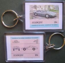 1971 MASERATI Ghibli Coupe Car Stamp Keyring (Auto 100 Automobile)