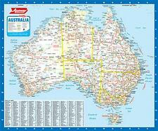 NEW Laminated Wall Maps - Aust Ausway Australia Wall Map