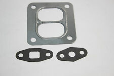 T4 Turbo Flange Stainless Steel Gasket Twinscroll Divided Inlet Oil Drain