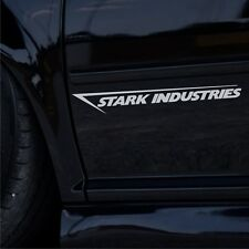 2x Stark Industries 35cm tuning auto pegatinas páginas pegatinas JDM sticker Iron