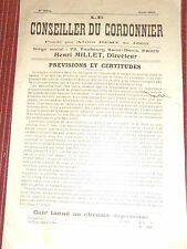 catalogue - revue le conseiller du cordonnier 1913 (réf 26)
